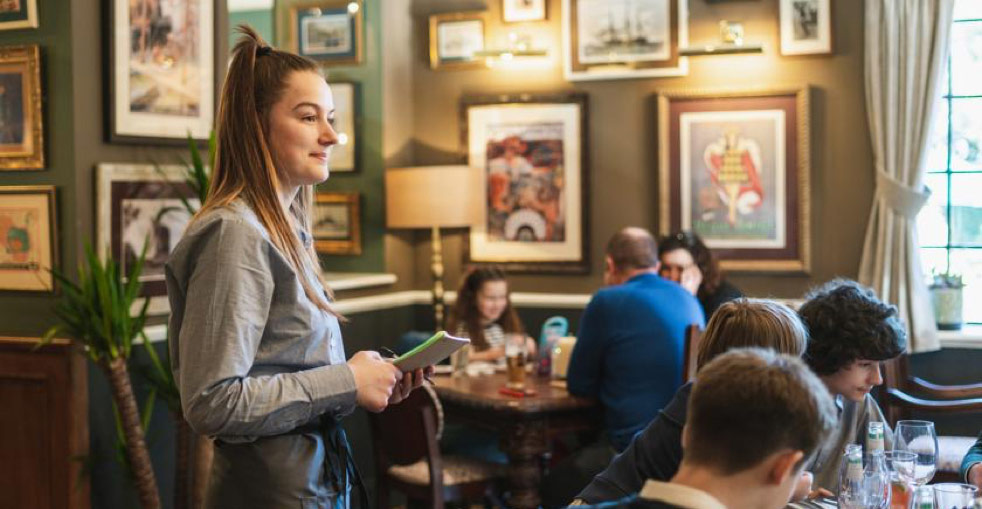 Waitress at Brunning & Price Pubs