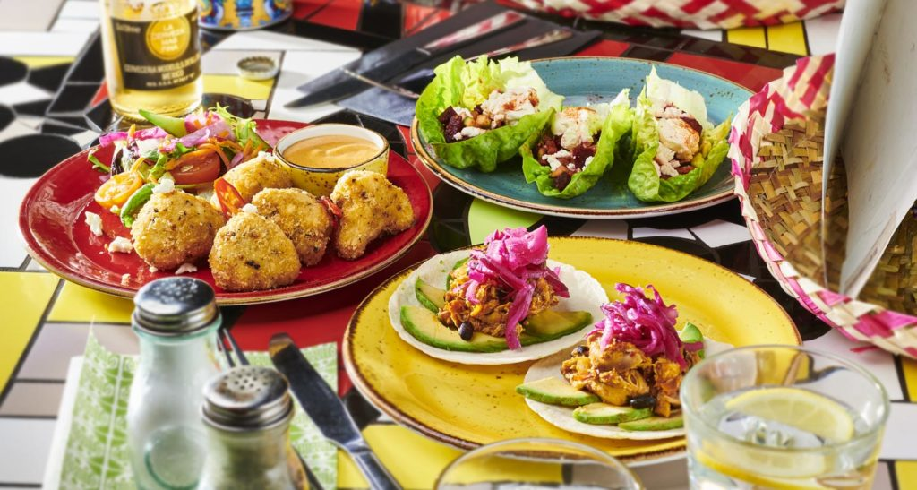 Selection of dishes from Chiquito