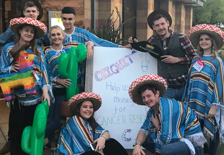 Chiquito employees fundraising for Cancer Research UK