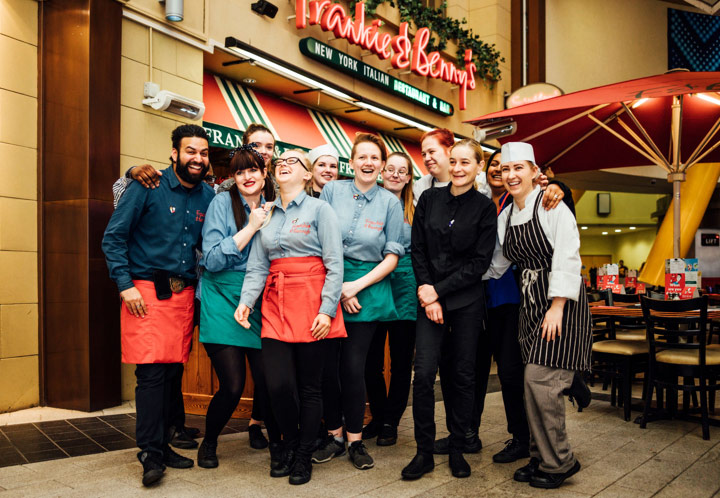 Frankie and Benny's employees fundraiser