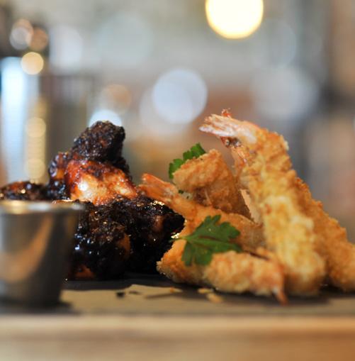 Firejack's chicken and shrimp starter
