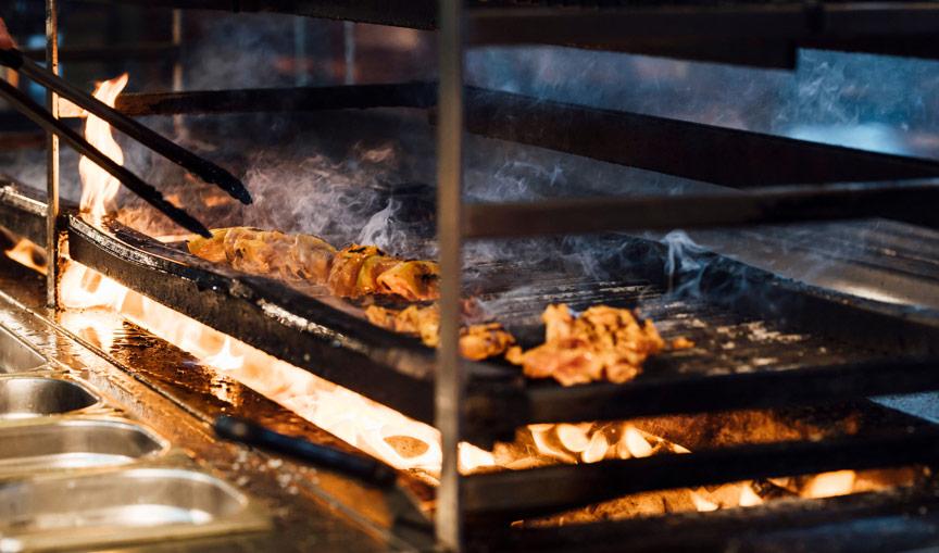 Chicken being grilled - Fire Jack's